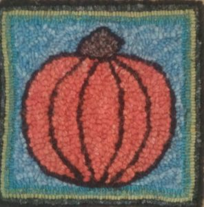 """Little Pumpkin""; 10""x10""; all wool (not one t-shirt loop!)"