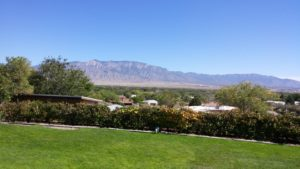 The view from the back patio at Acequia Winery. There's no place better to sit and sip.