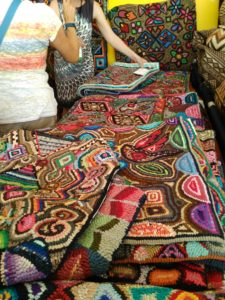 Rugs For Sale At The Santa Fe International Folk Art Market. They Were  Hooked By The Guatemalan Women Of Multicolores Cooperative.