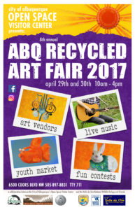 Poster advertising Albuquerque's Recycled Art Fair 2017.