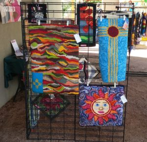 Summer selling at ABQ Recycled Art Fair.
