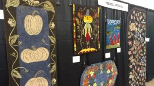 AWAG's booth at Fiesta 2017 where we share the gospel of rug hooking.